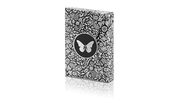 BUTTERFLY BLACK & SILVER MARKED