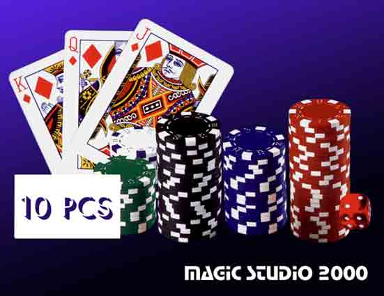 CASINO PROFESSIONAL CHIPS 10 ks
