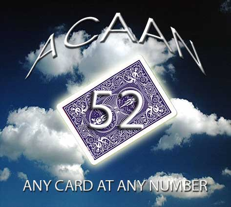 ACAAN 52 - ANY CARD AT ANY NUMBER + DVD