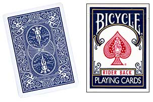 BICYCLE POKER SIZE - RIDER BACK BLUE
