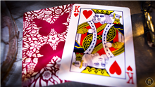BUTTERFLY PLAYING CARDS - RED