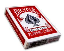 BICYCLE POKER SIZE - RIDER BACK RED