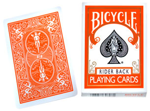BICYCLE - POKER SIZE ORANGE BACK