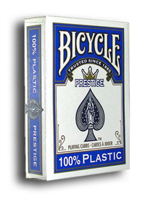 BICYCLE PRESTIGE 100% PLASTIC BLUE